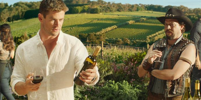 Chris Hemsworth and Danny McBride in the ad.