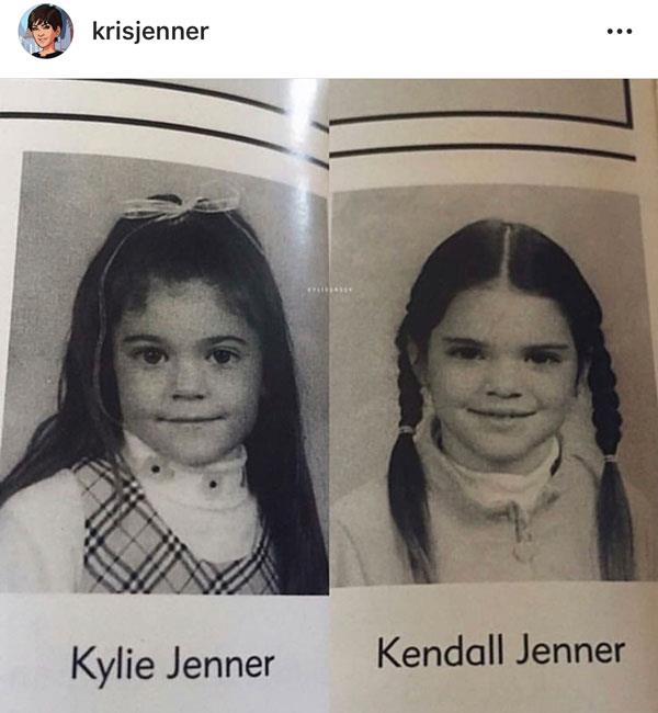 Kylie and Kendall rocking sweet, simple hairstyles.