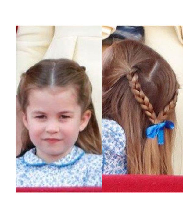 Princess Charlotte's plaits look as pretty as a picture.