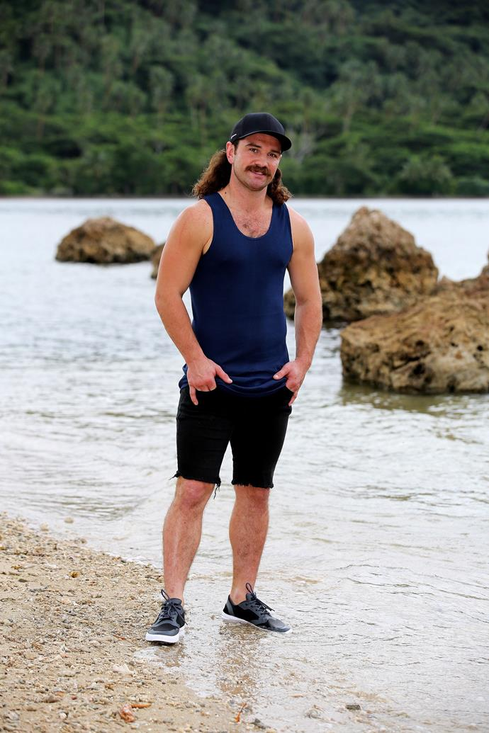 """**John Eastoe, 28, gold miner, CONTENDER**  <br><br> John is temporarily ditching the underground gold miner life in Western Australia to try his hand at *Australian Survivor.*  <br><br> The cheeky larrikin hopes his determination and desire to have a good time will help him in the game, though he admits he's not a """"superfan"""" of the show."""