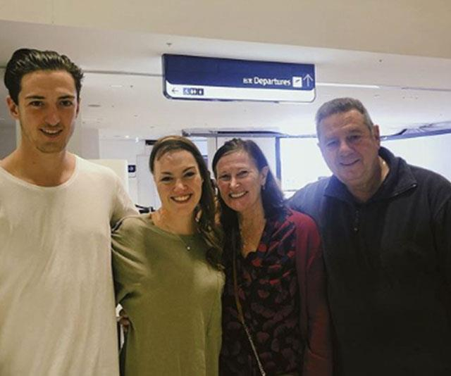 Sophie with her brother Mitchell, mum Carolyn and father Ron.