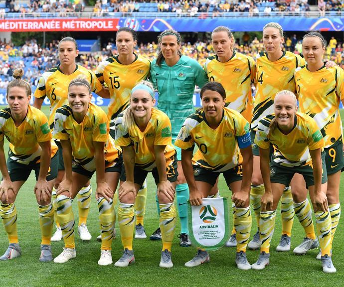 The entire Matildas' squad.