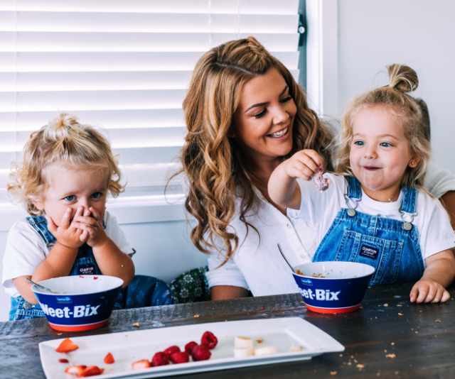 Mum-of-four, Mel Watts says meal-time mess is totally worth it.