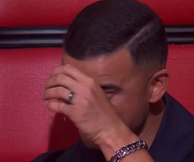 Guy Sebastian was in tears during an emotional episode of *The Voice*.