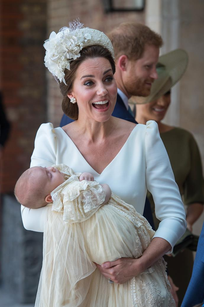 Baby Archie is expected to wear the very same gown worn by his cousins George, Charlotte and Louis for his christening.