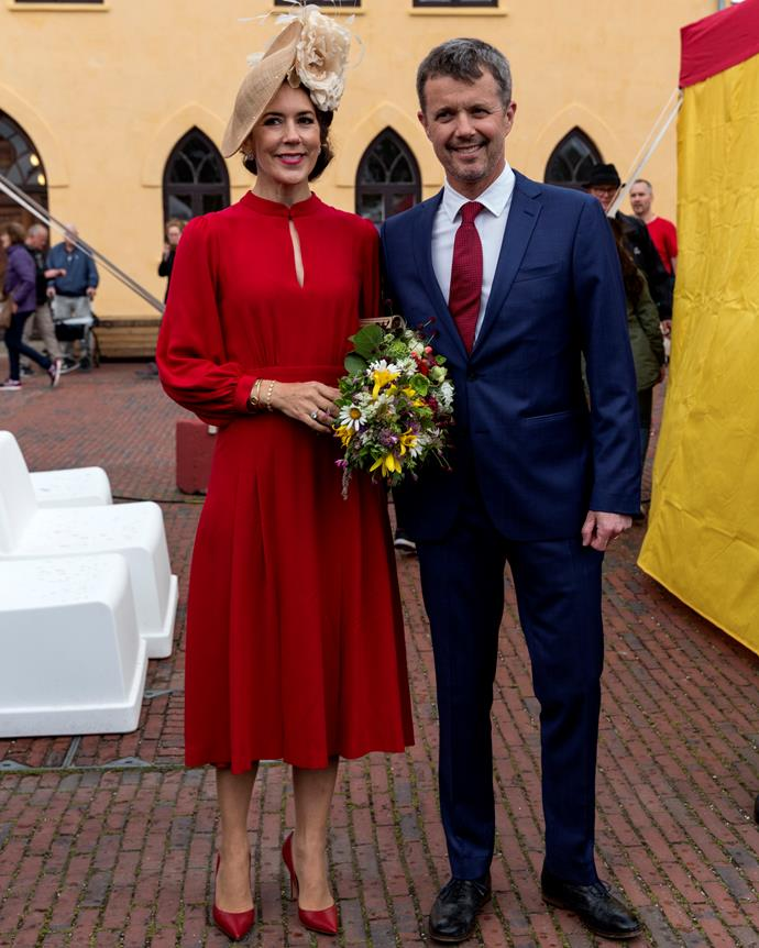 Mary and Frederik looked adorable on their couple's day out.