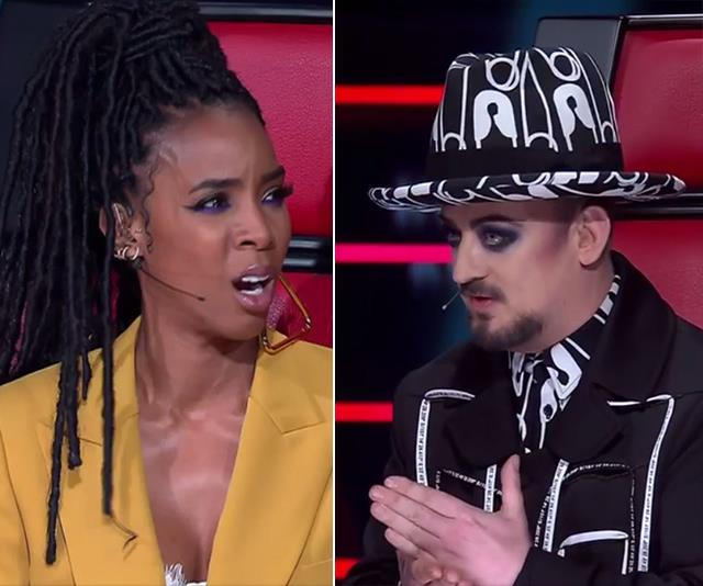 Kelly and Boy George were at it again.