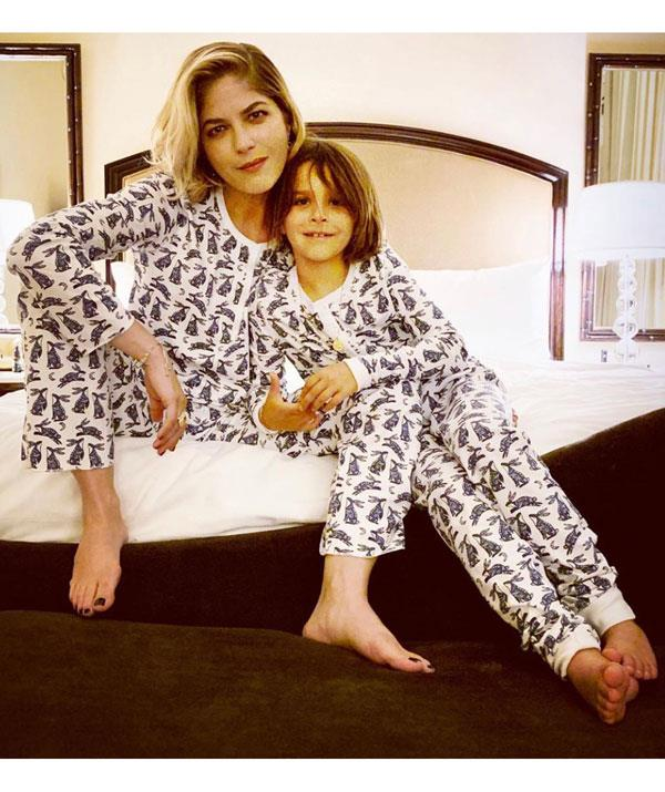 Selma and her son Archie rocking the matching PJs look. *(Image: Instagram @selmablair)*