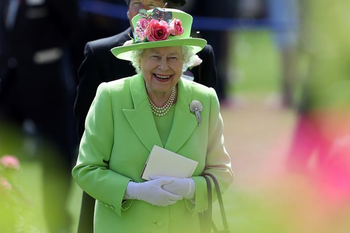 Adding a touch of zest, the Queen's lime green outfit on day four of the festivities in 2018 was as radiant as her smile!