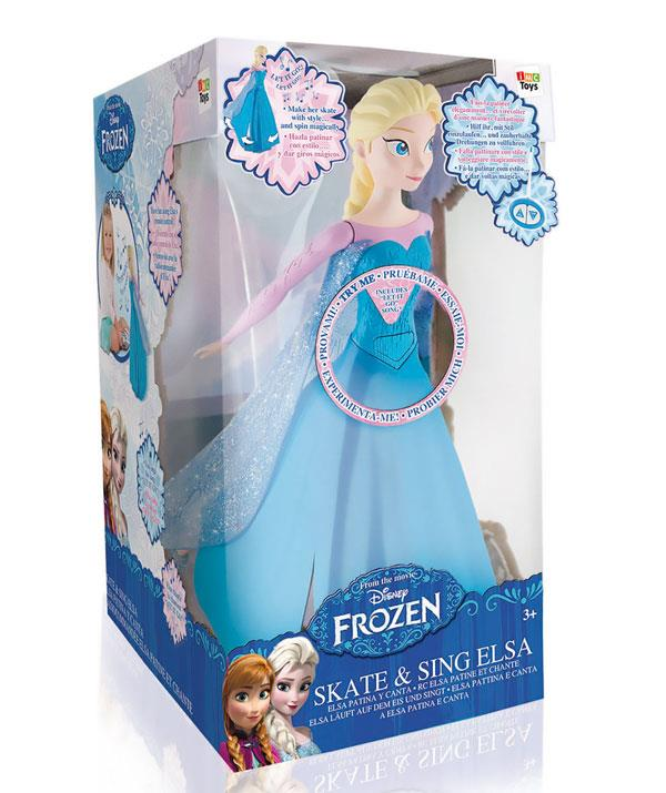 Little *Frozen* fans (but perhaps not parents!) will love watching Elsa glide around while she sings, *Let It Go*. *(Image: BIG W)*