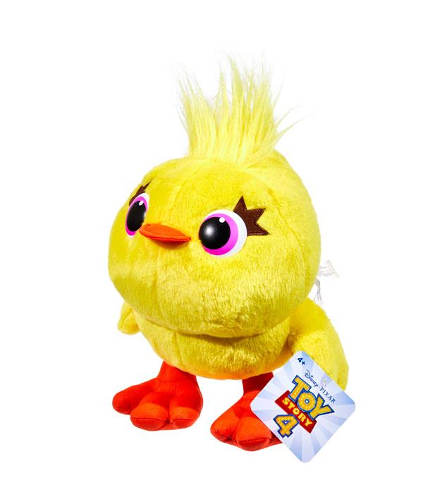 The Ducky Talking Plush from *Toy Story 4* says funny phrases from the hit movie. *(Image: BIG W)*