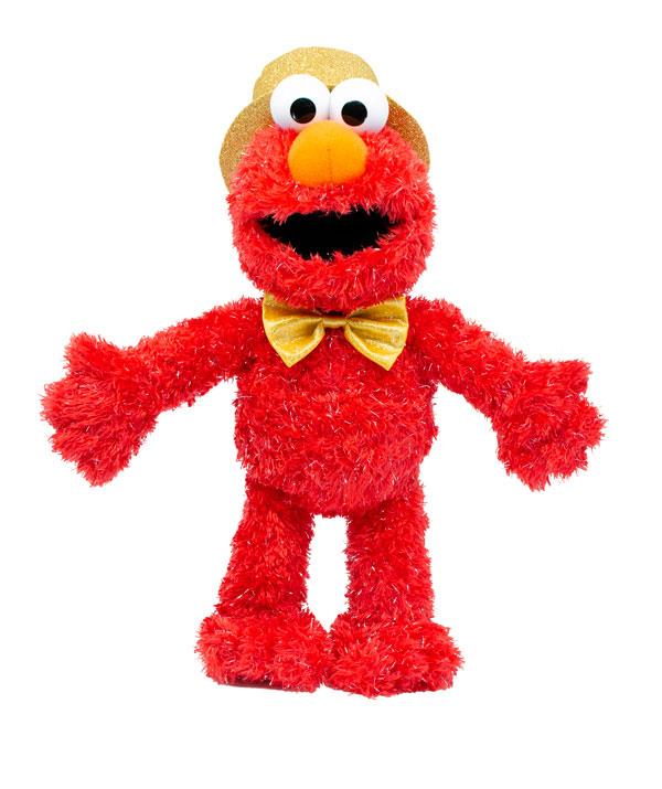 Love cuddles? Gold Bowtie Elmo gives great ones. *(Image: BIG W)*
