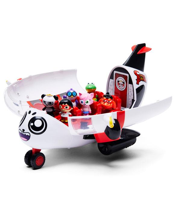 Do you have a little one obsessed with Ryan's World? This plane with six figures and accessories will be a hit. *(Image: BIG W)*