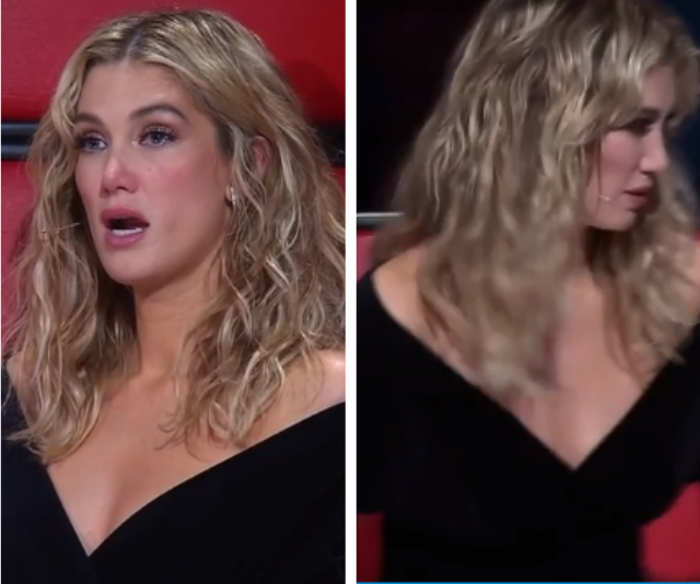 It was too much for Delta Goodrem who left the stage in tears.