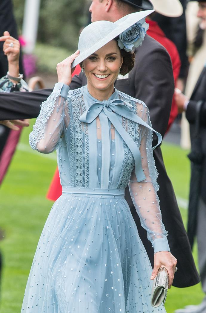Kate's dreamy blue dress was all kinds of chic.