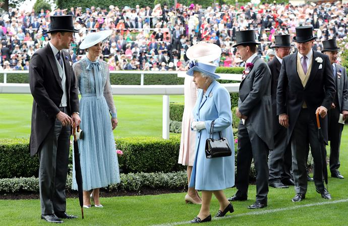 Her Majesty called it! Blue is the colour of the racing season.