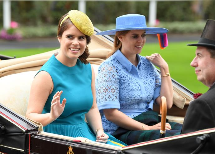 Eugenie and Beatrice also stunned in shades of the popular hue.