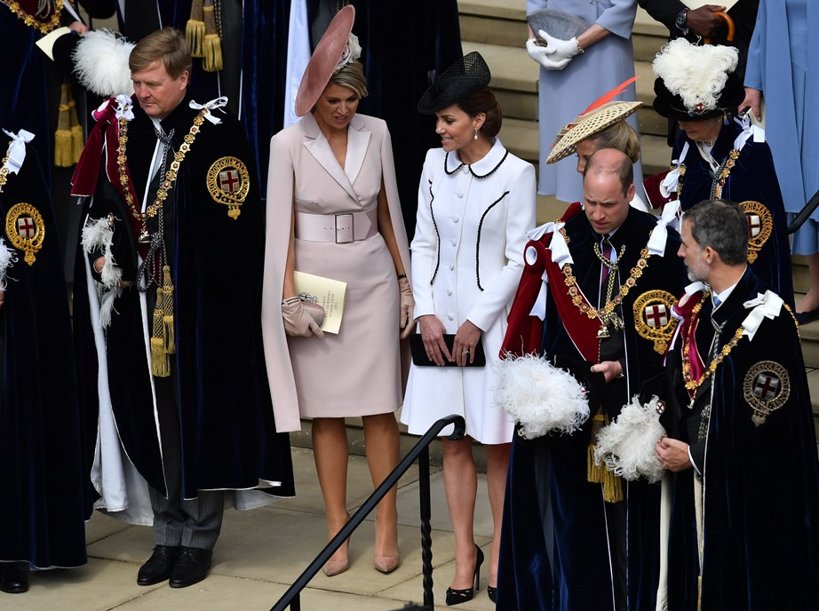 William and Kate's convoy were on their way to the Order of the Garter ceremony at Windsor. *(Image: Getty)*