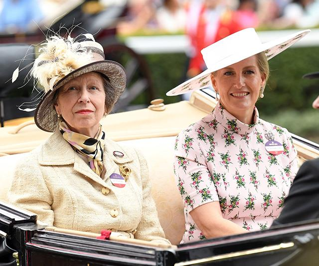 Entering stage left alongside Sophie was Princess Anne, who looked zesty in yellow tones.