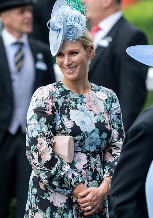 Meanwhile Zara Tindall looked radiant in a floral design.