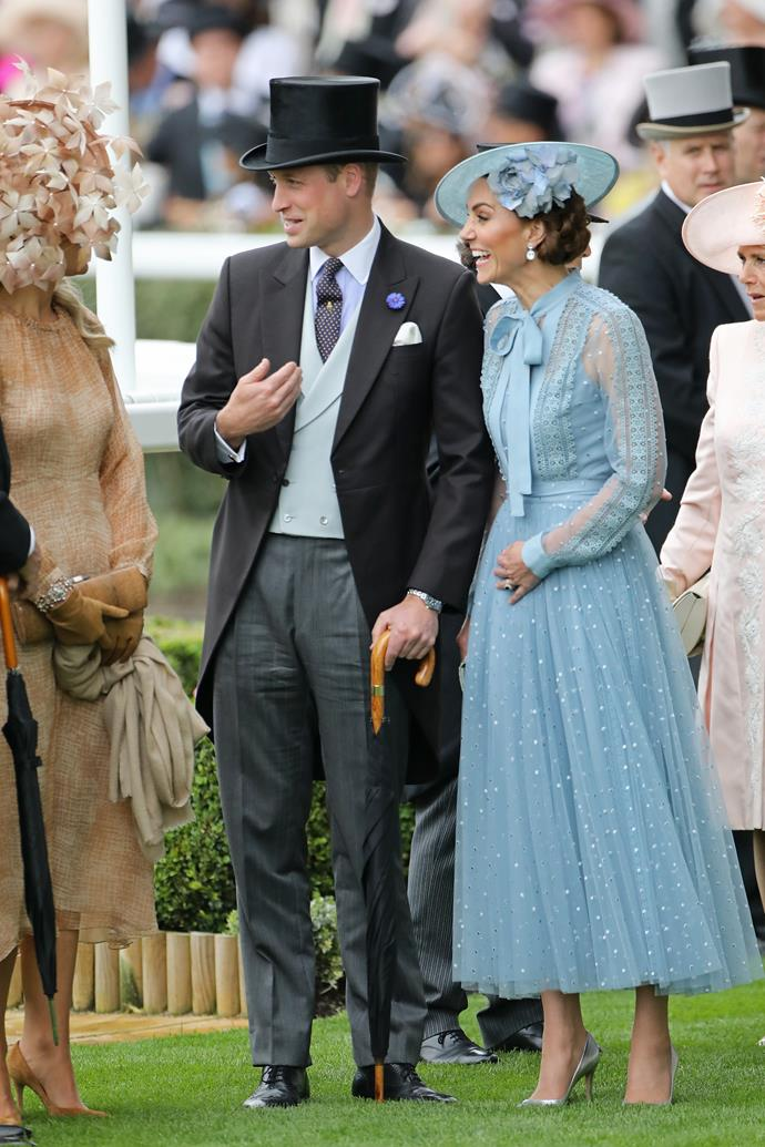 A dapper William looked as though he couldn't quite believe how lucky he was to have Kate as his plus one!