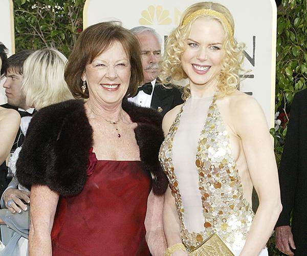 Good looks in the family! Nicole Kidman brought her mum to the Golden Globes in 2004 and the two made a stunning pair.