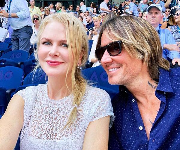 51 and flawless: Nicole and Keith looked picture perfect at the 2019 Australian Open.