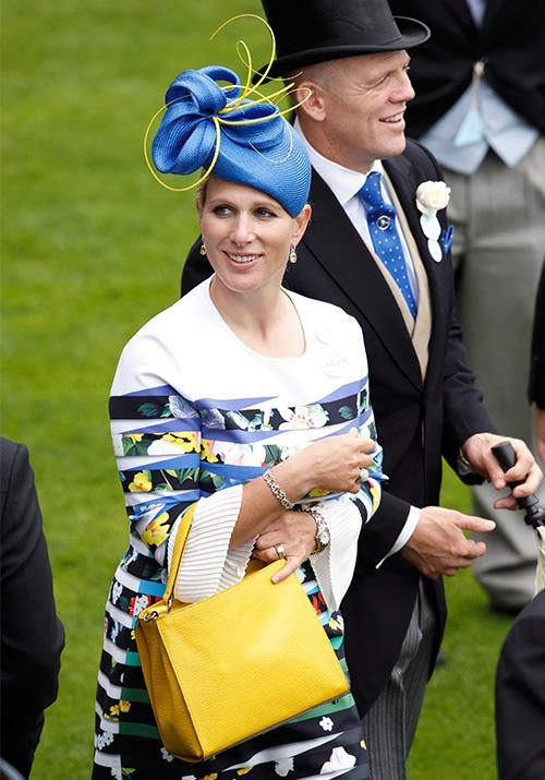 Zara Tindall is also one to test fashion boundaries - we can't help but applaud the royal here for bravery - pairing lemony yellow with bright blue and a bold floral print like she did in 2016 is *not* something we'd be thinking of trying out in public, let alone in the privacy of our home...