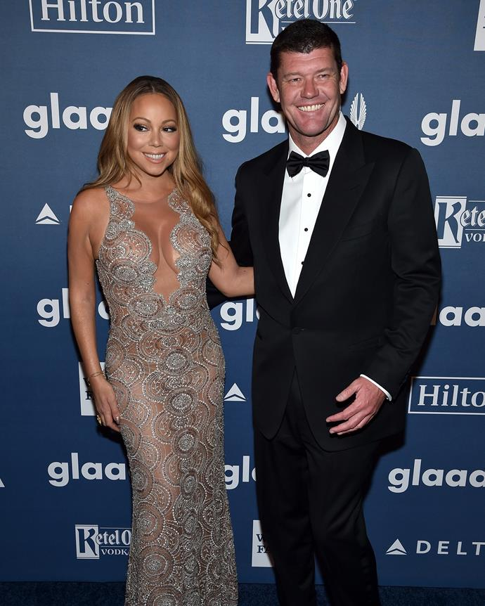 Packer and Mariah Carey during happier times.
