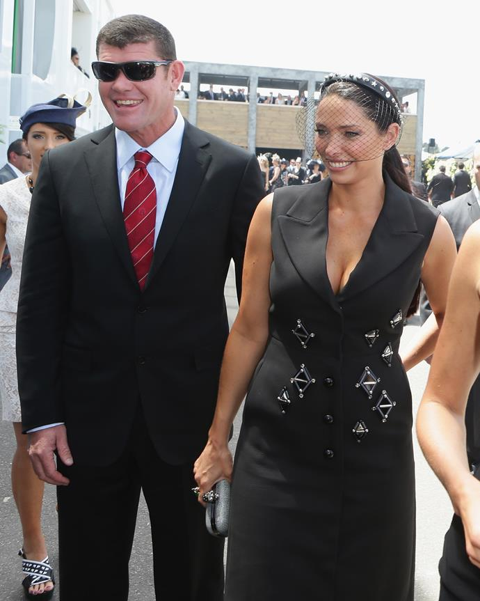 With ex-wife Erica Packer at Derby Day in Melbourne, 2012.