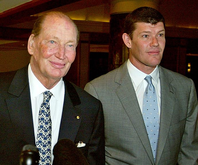 James and his late father Kerry Packer.