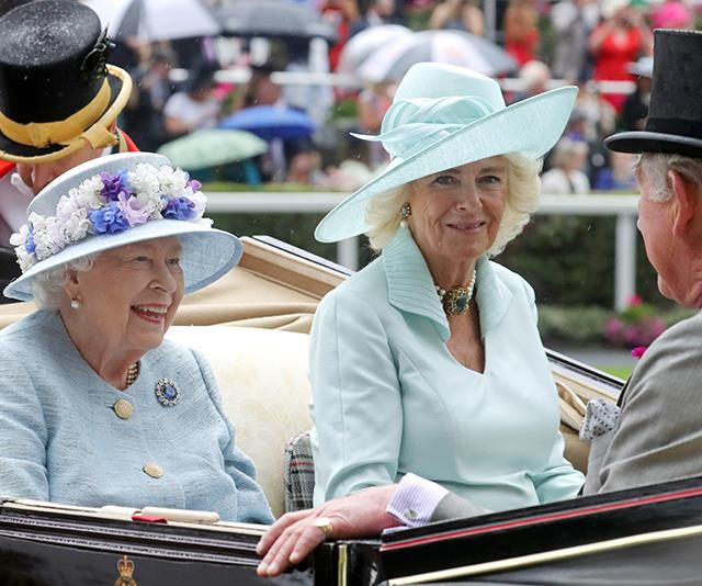 The Queen and Duchess Camilla certainly know how to colour coordinate.