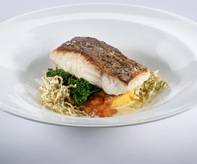 The fish main course dish.