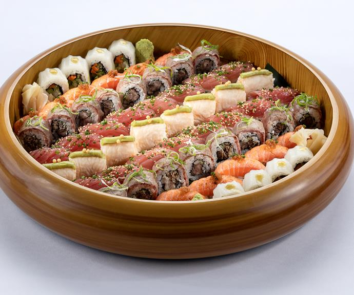 The salmon nigiri appetiser.