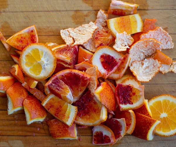 Fruits like oranges are rich in vitamin C.