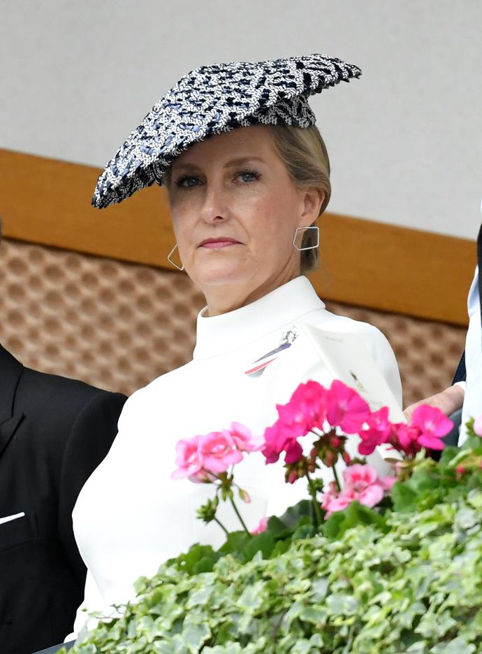 "Sophie of Wessex also looked classy as day two kicked off, wearing a chic high-neck dress along with a printed hat. It was a special day for the royal, who was celebrating her [20th wedding anniversary](https://www.nowtolove.com.au/royals/british-royal-family/prince-edward-sophie-countess-of-wessex-anniversary-ascot-56525|target=""_blank"") with husband Prince Edward - congratulations to them!"