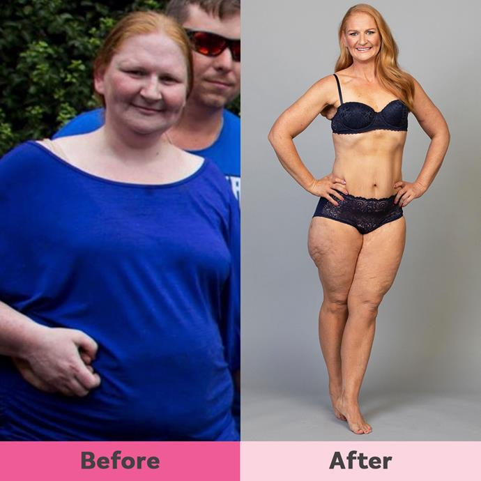 Heidi downsized 70kg in two-and-a-half years and now weighs 65kg.
