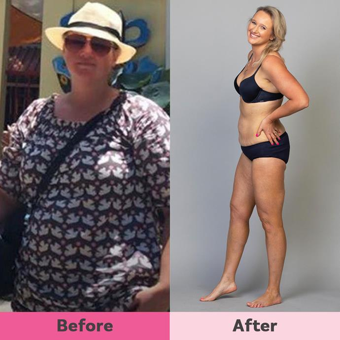 Since October 2018, Tanja has lost 40kg and is now a healthy 76kg.