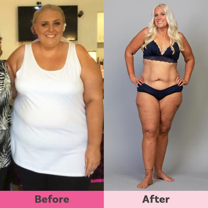 Nicole lost a mammoth 60kg and has changed her eating habits for good.