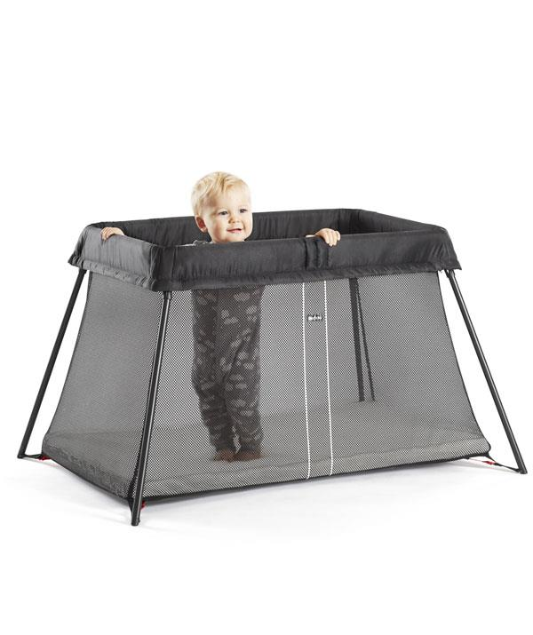 The BabyBjorn Travel Cot, is set-up in one swift motion.