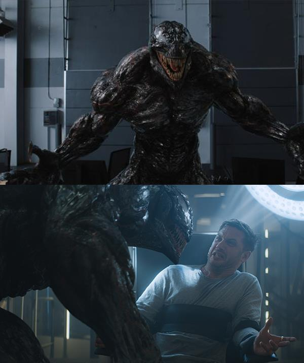 Stills from 2018's *Venom* *(Sony Pictures)*