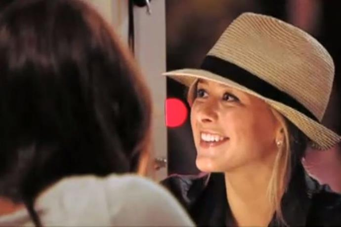 Lo took a sneaky leaf out of LC's book and tried her own hand at the fedora. Arguably still to no avail...