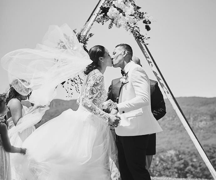 Maria and Israel on their wedding day in 2017.