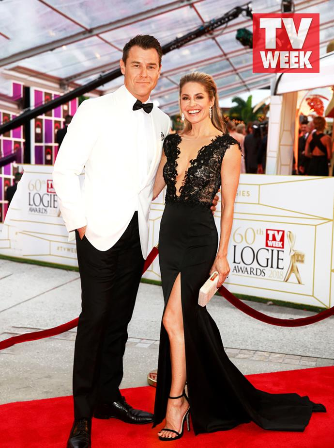 Rodger and Renae at the 2018 TV WEEK Logie Awards.