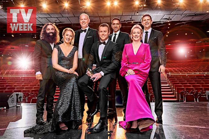 Rodger with his fellow Gold Logie nominees.