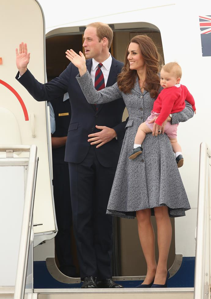 We're hoping the young Cambridge might be on board that flight to Asia!
