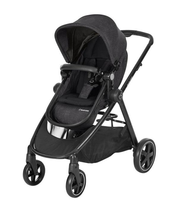 The Zelia stroller seat transforms into a bassinet, it is the perfect 2-in-1 stroller.