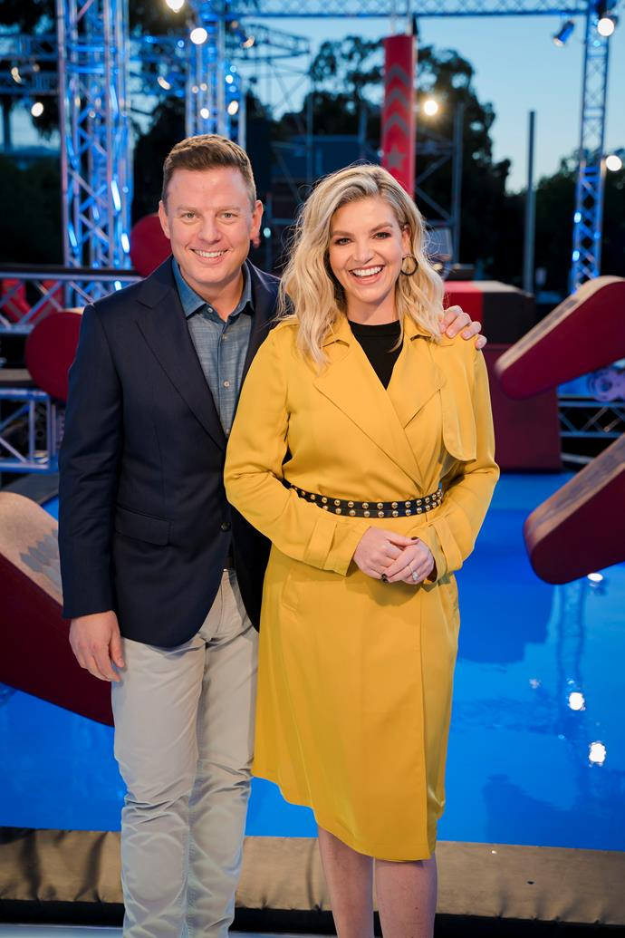 Ben with his co-host Rebecca Maddern.