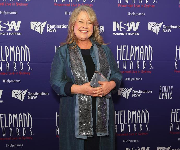 Noni on the red carpet at the Helpmann Awards.