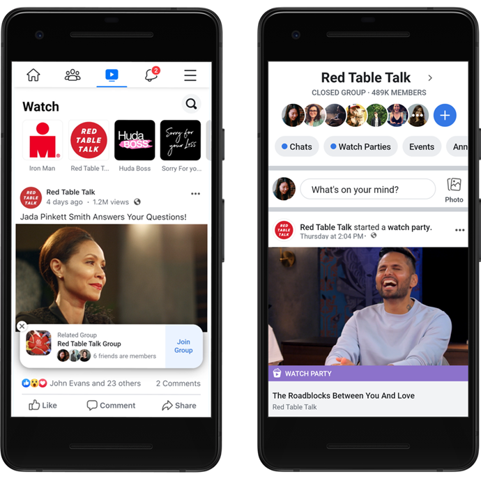 Facebook Watch allows TV and video fans to engage in some quirky new ways.